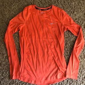 Long sleeve Nike Dri-fit running shirt
